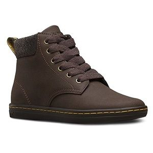 Dr. Martens Brown Maelly Padded Collar Boots